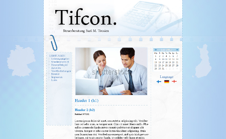 Tifcon website layout